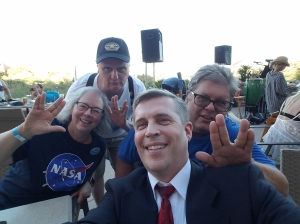 Paulette, Martin, and Jamie with Michael G. Neece, July 4, 2018