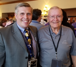 Fred Haise of Apollo 13 with Michael G. Neece, July 5, 2018